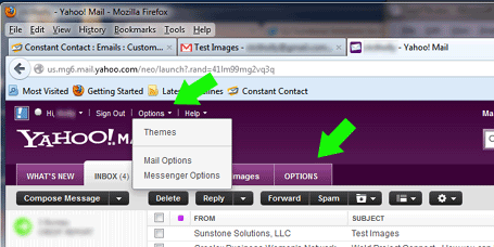 Yahoo! email configuration changes